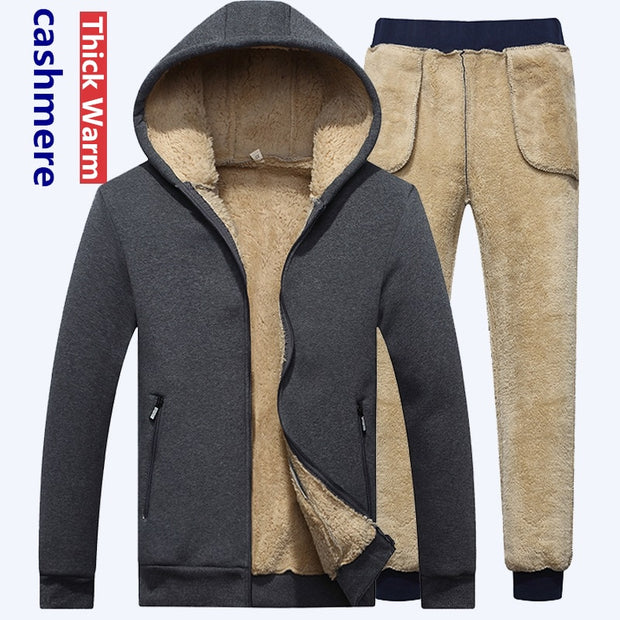 Men Winter Warm Tracksuit