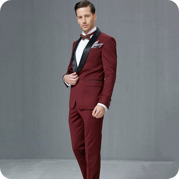 Riches &Rags Burgundy Label  Suit