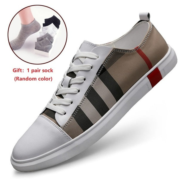 Mens Sneakers High Quality Burr Plaid