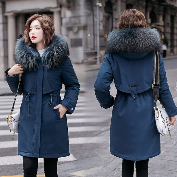 Mid-Long Hooded Jacket
