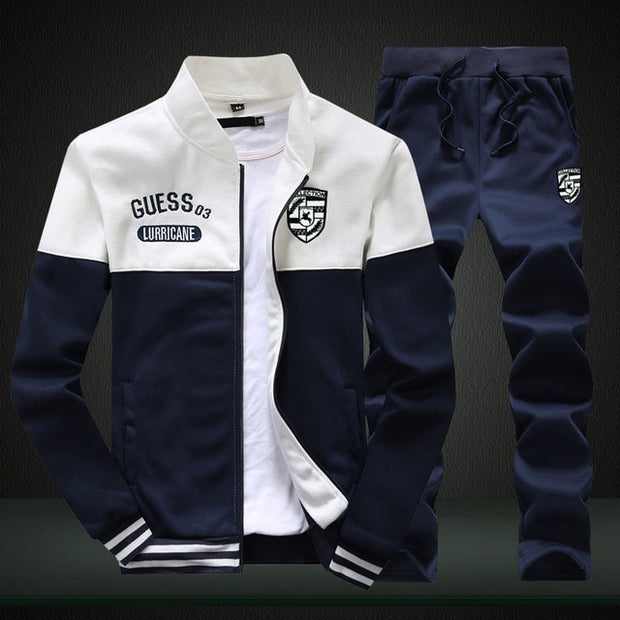 Two Pieces Sets Slim Tracksuit