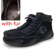 Suede Men  Driving Shoes Soft Sapato Masculino High or low