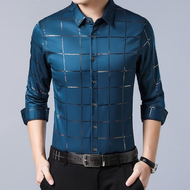 Luxury Plaid Slim Shirt