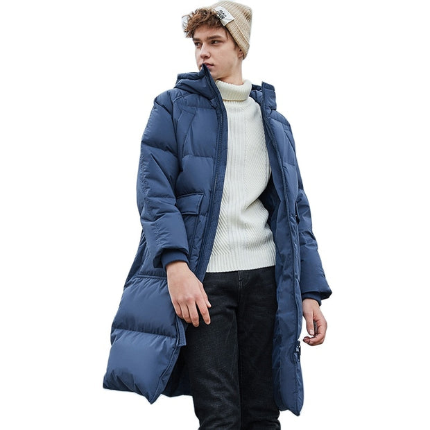 Solid Long Down Jacket