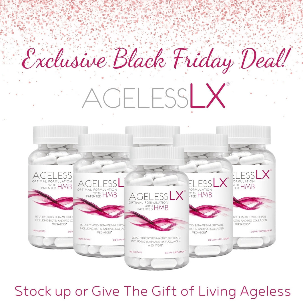 Lock In Your AgelessLX Special Pricing!