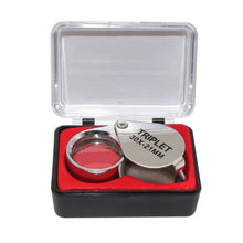 Load image into Gallery viewer, 30X Pocket Size Magnifying Glass Loupe