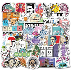 Science STEM Stickers DIY For Laptop PC Phone Suitcase Stationery Waterproof Stickers