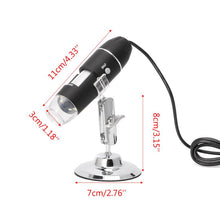 Load image into Gallery viewer, 1600X USB Digital Microscope Camera Endoscope 8LED Magnifier with Metal Stand