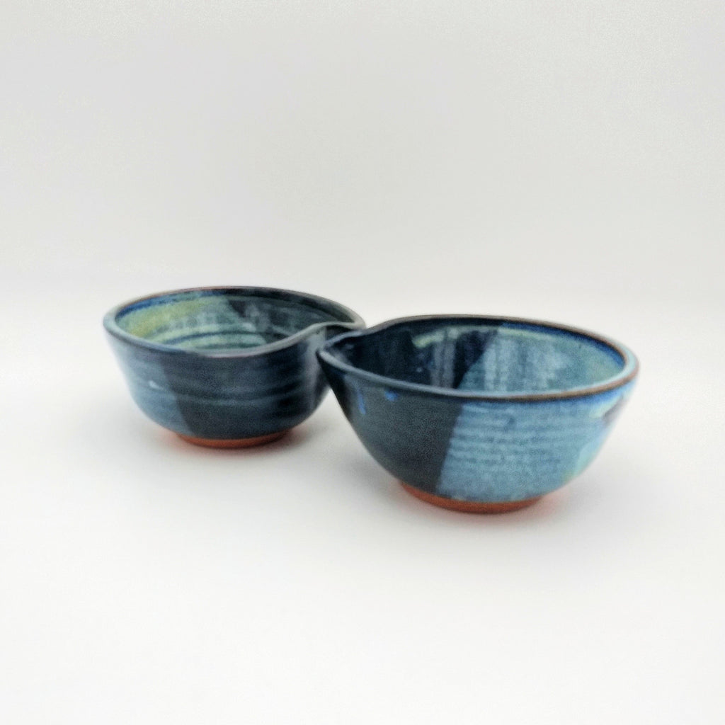 Handmade Pottery Dip Bowls - Blue Cheese