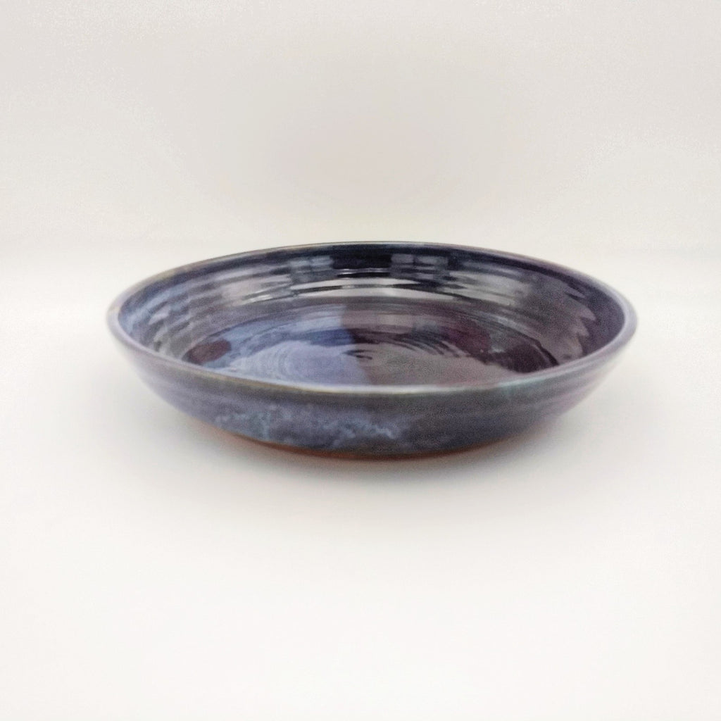 Handmade Pottery Pasta Serving Bowl - Eggplant