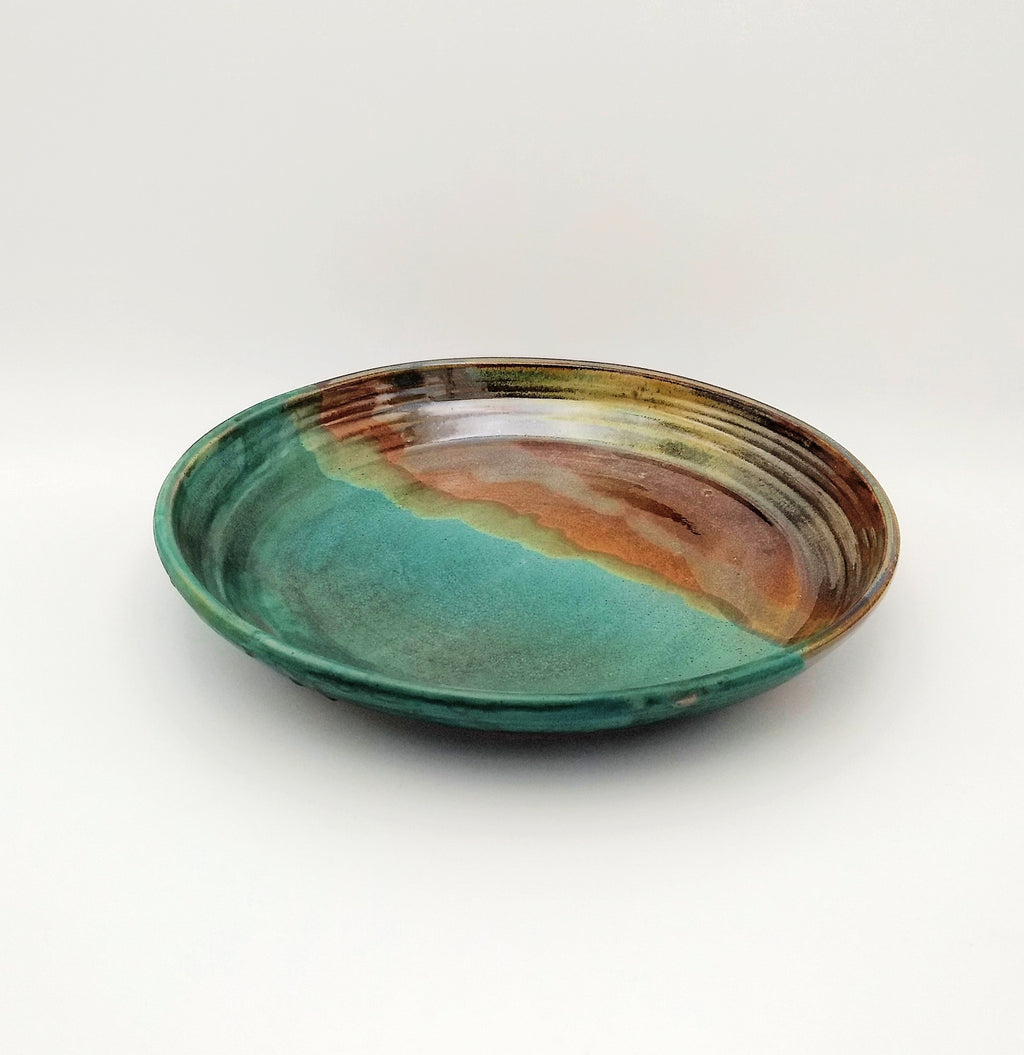Handmade Pottery Pasta Serving Bowl - Seaweed