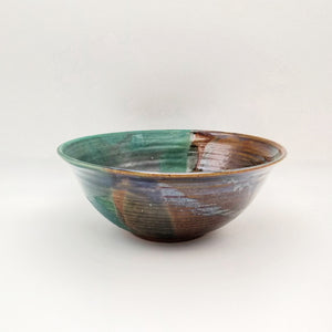 Handmade Pottery Serving Bowl - Seaweed
