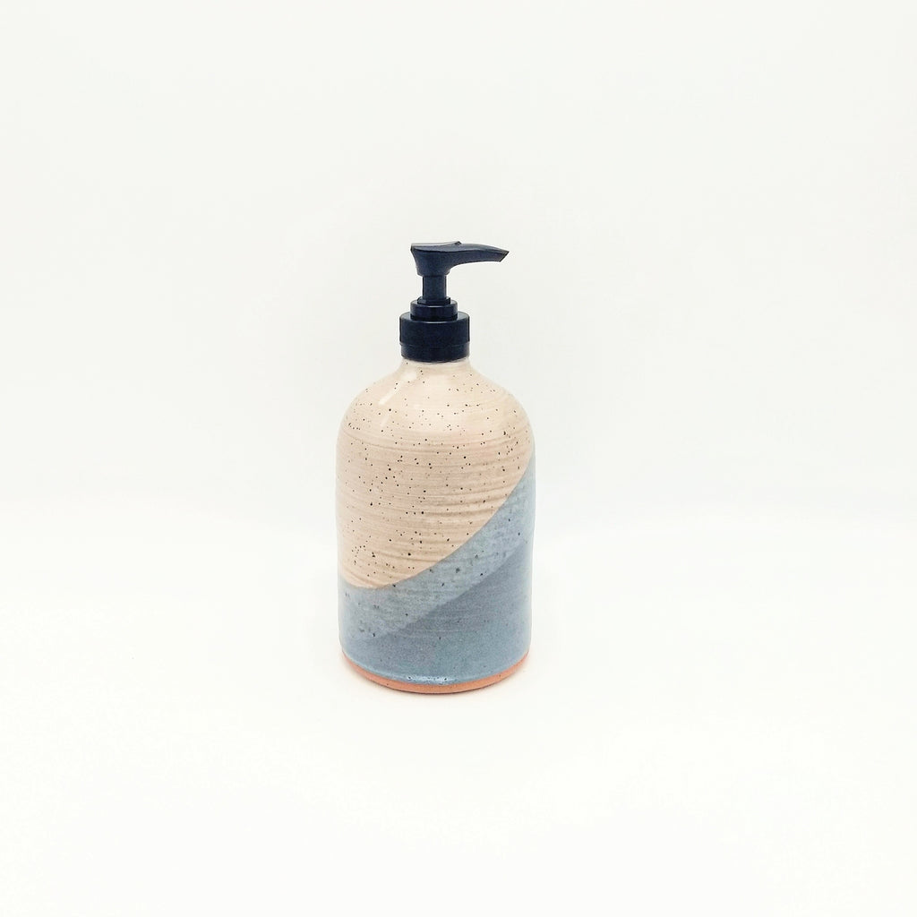 Handmade Pottery Soap Pump, Tall - Chowder