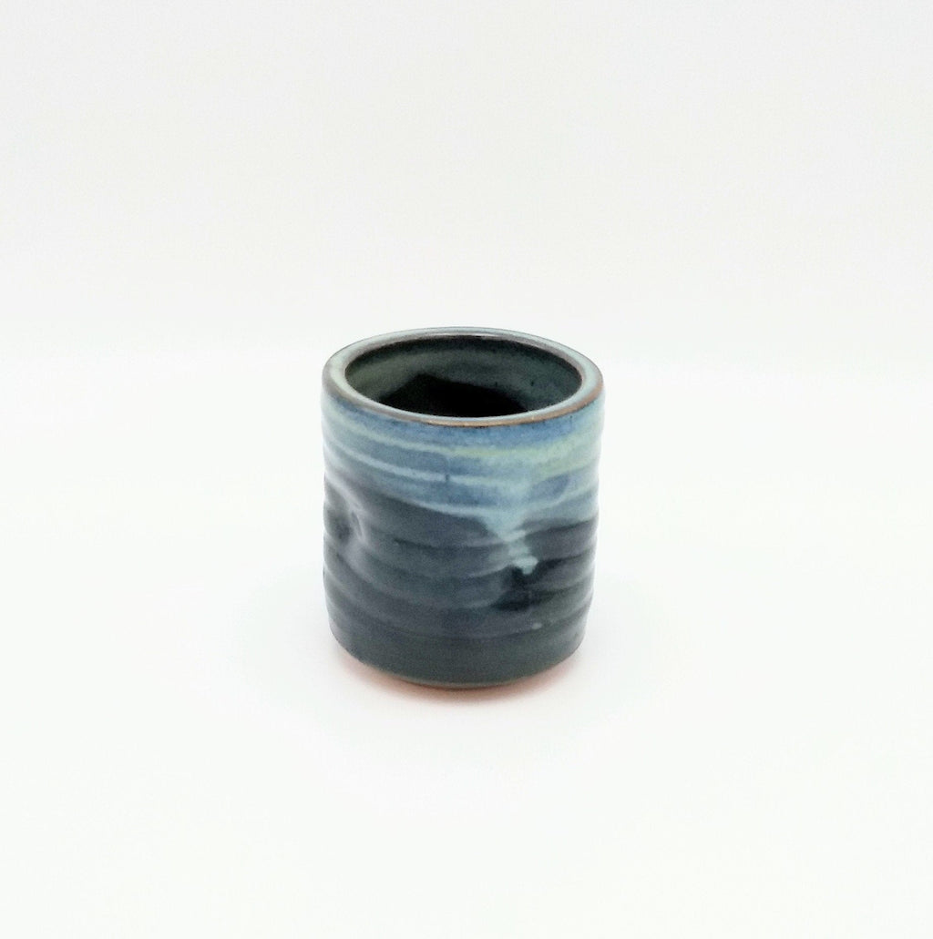 Handmade Pottery Juice Glass - Blue Cheese