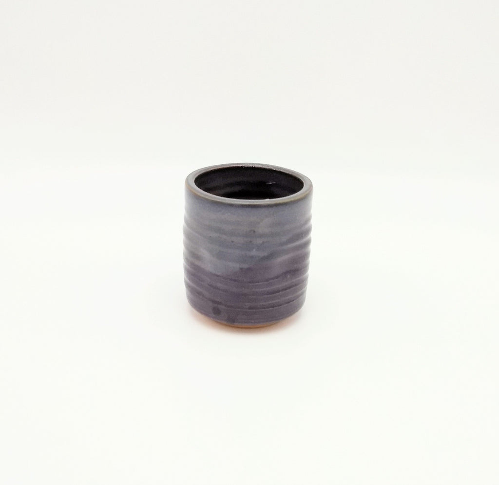 Handmade Pottery Juice Glass - Eggplant
