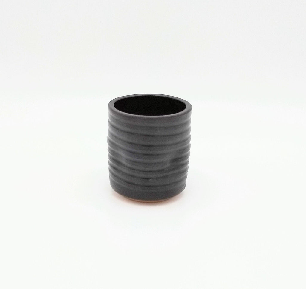 Handmade Pottery Juice Glass - Espresso