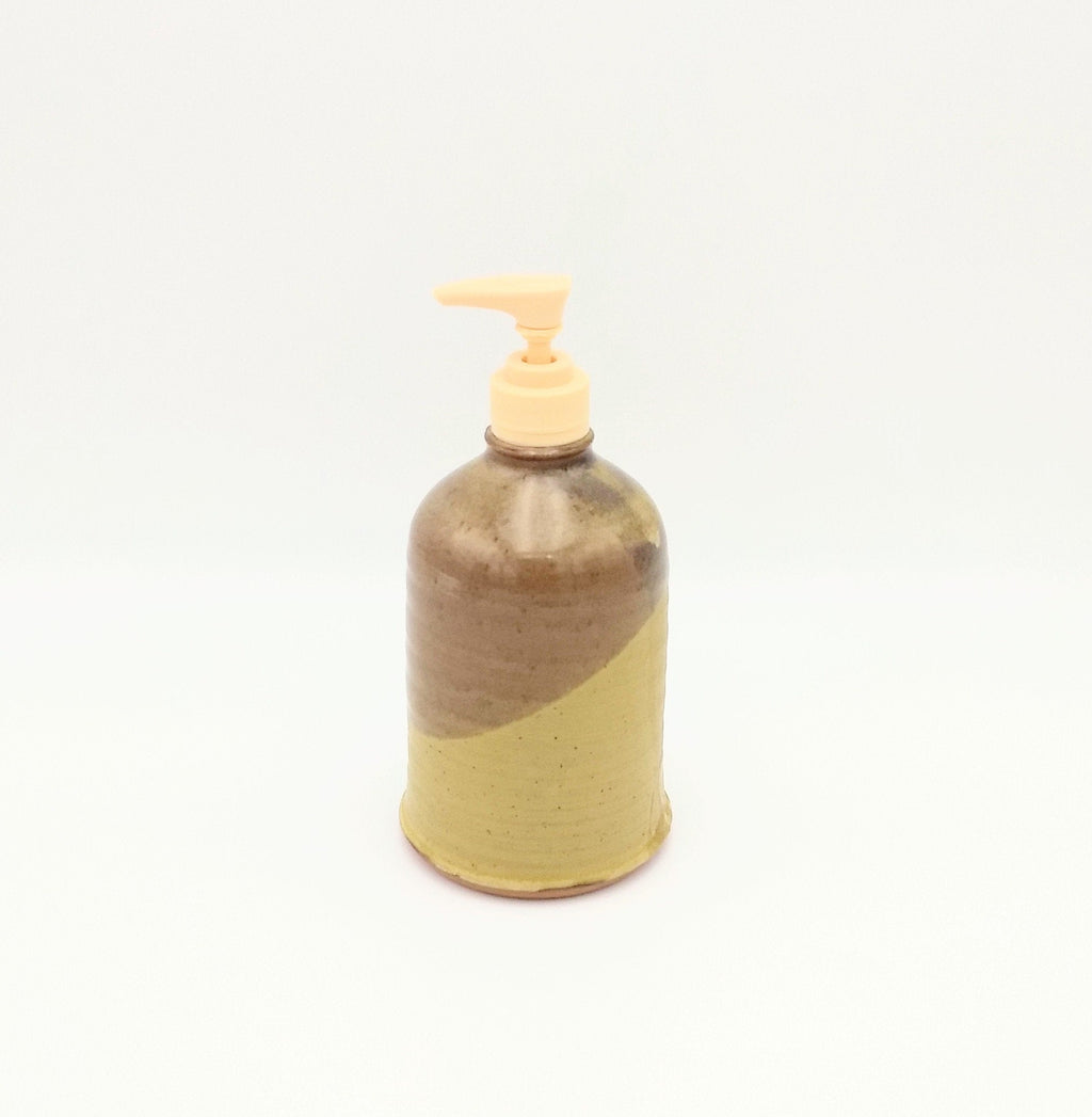 Handmade Pottery Soap Pump, Tall - Mustard