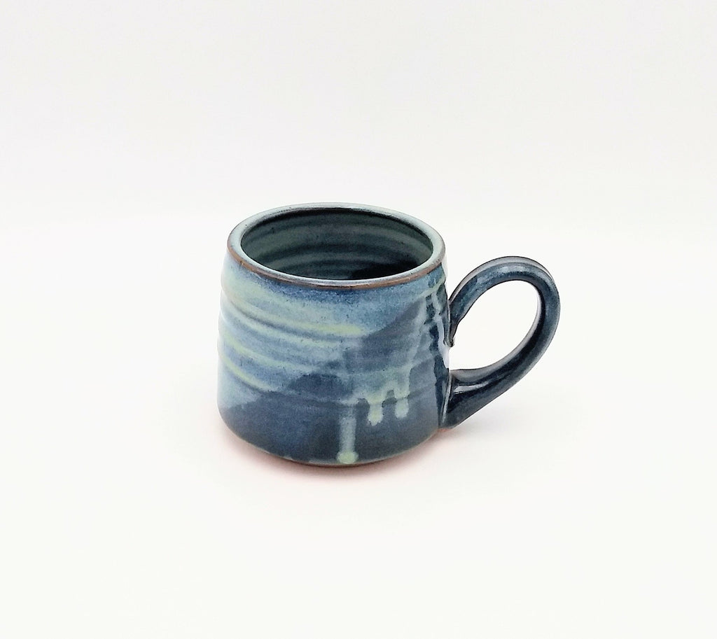 Handmade Pottery Mug - Camp, Blue Cheese