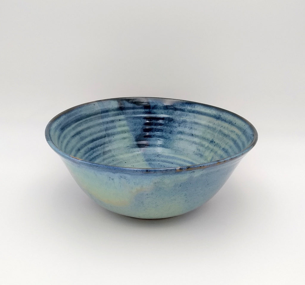 Handmade Pottery Serving Bowl - Blue Cheese
