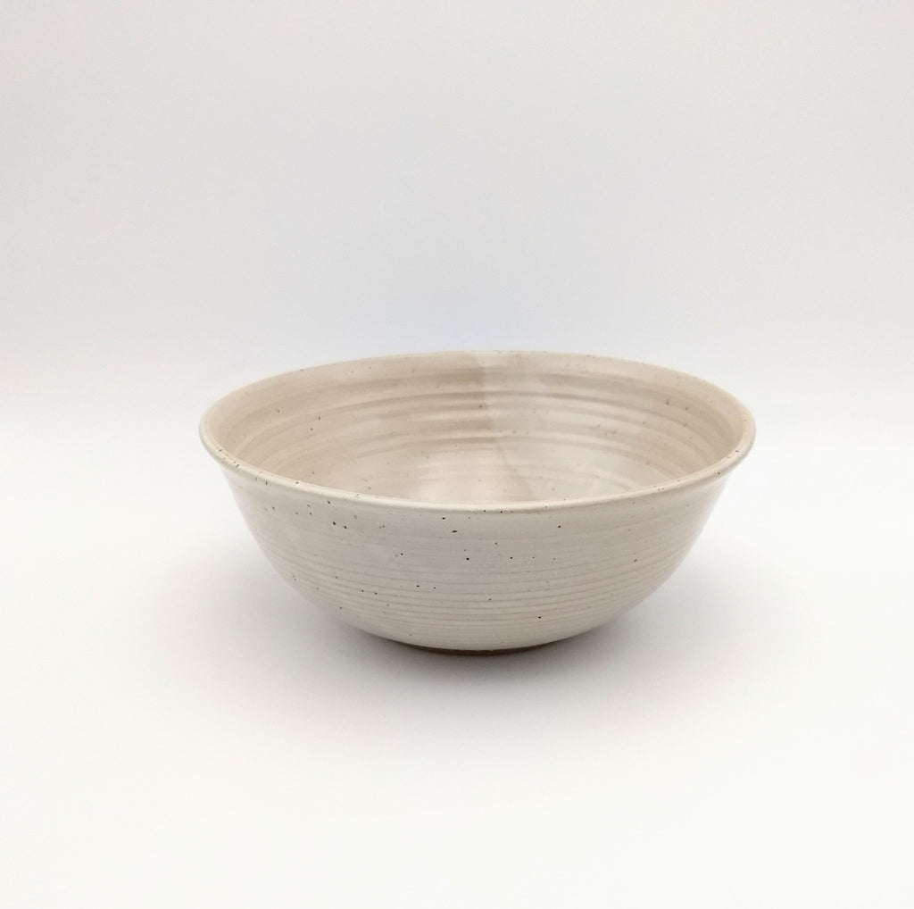 Handmade Pottery Serving Bowl - Vanilla Bean