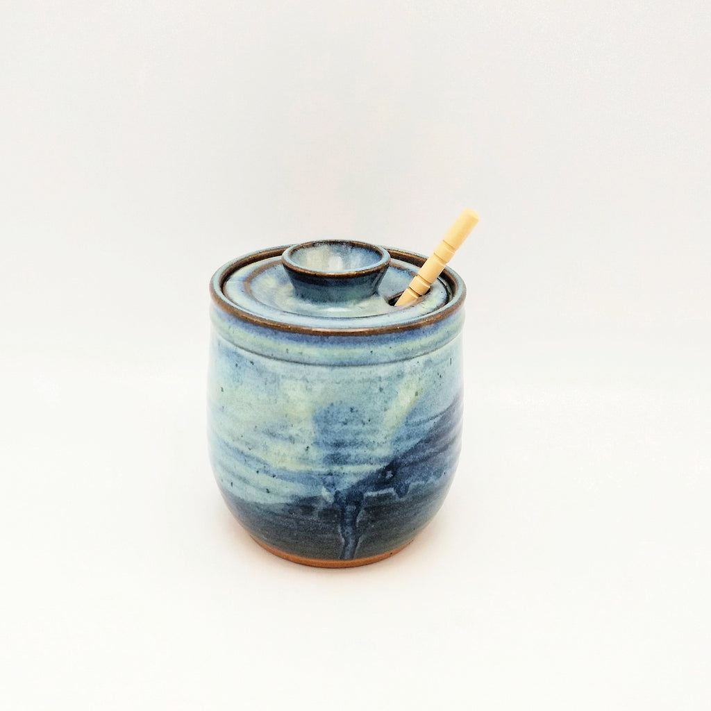 Handmade Honey Pot - Blue Cheese