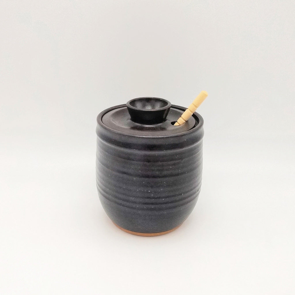 Handmade Honey Pot - Espresso