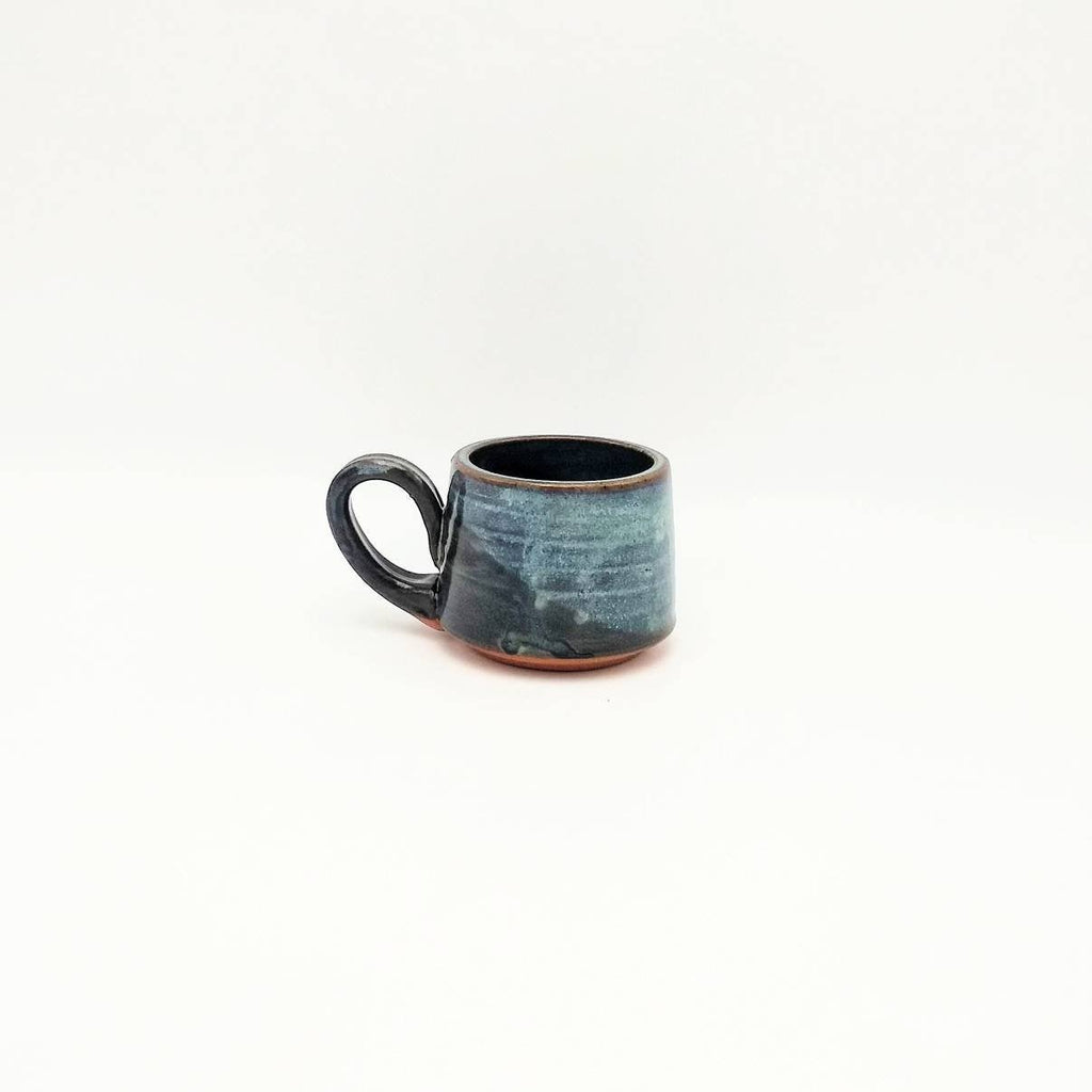 Handmade Pottery Espresso Mug - Blue Cheese