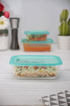 Luminarc 3pcs KeepN Rectangular Food Container set