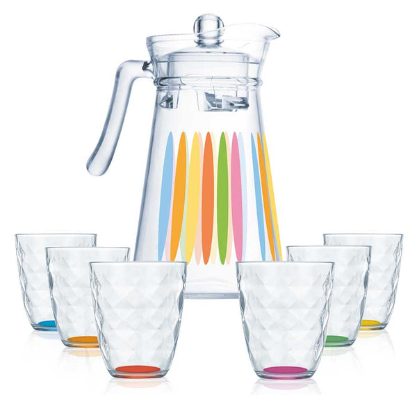 Luminarc Rainbow Diamond - 7pcs Drink Set