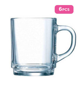 Luminarc 6pcs Stackable Plain Mug - 25cl