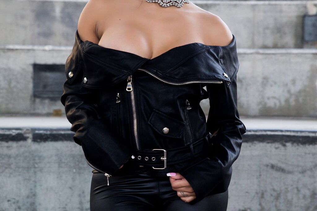 Moto Sport Off the Shoulder jacket