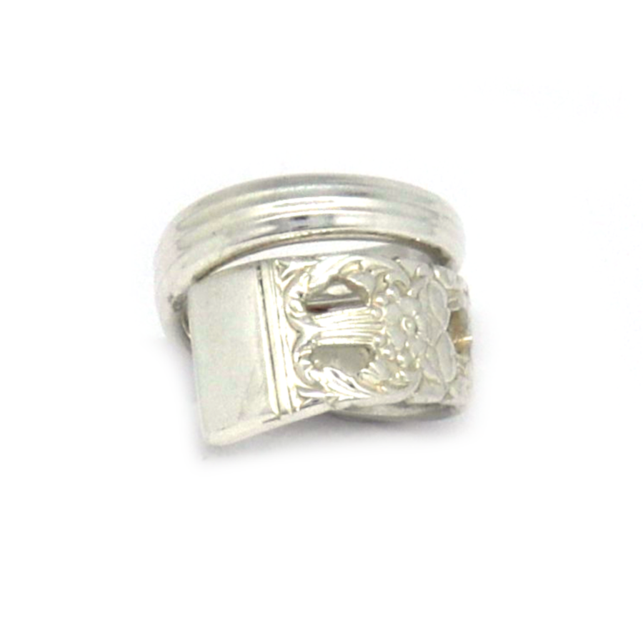 Antique Community Swirl Spoon Ring