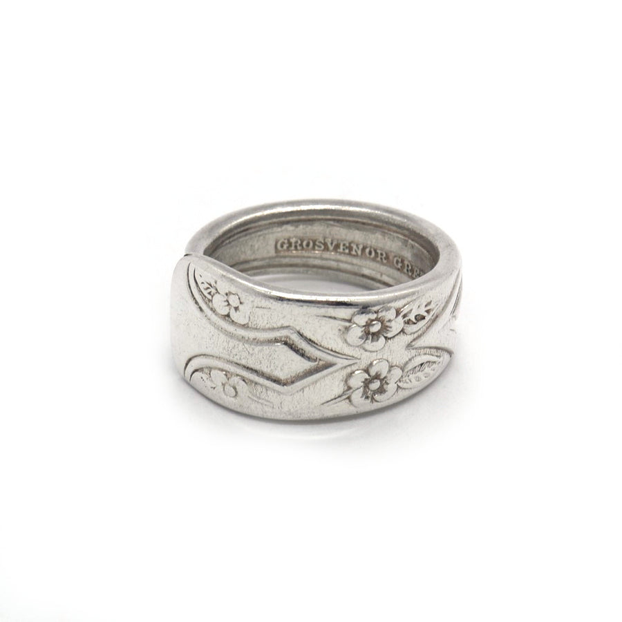 Vintage Gardenia Spoon Ring