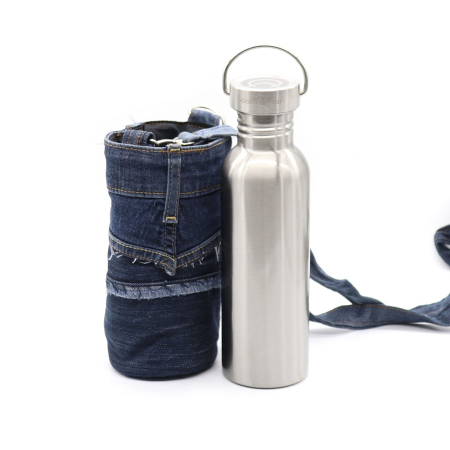 Denim Water Bottle Holder