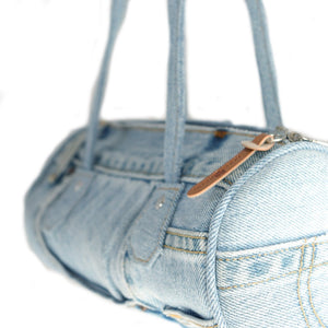 Denim Tube Handbag