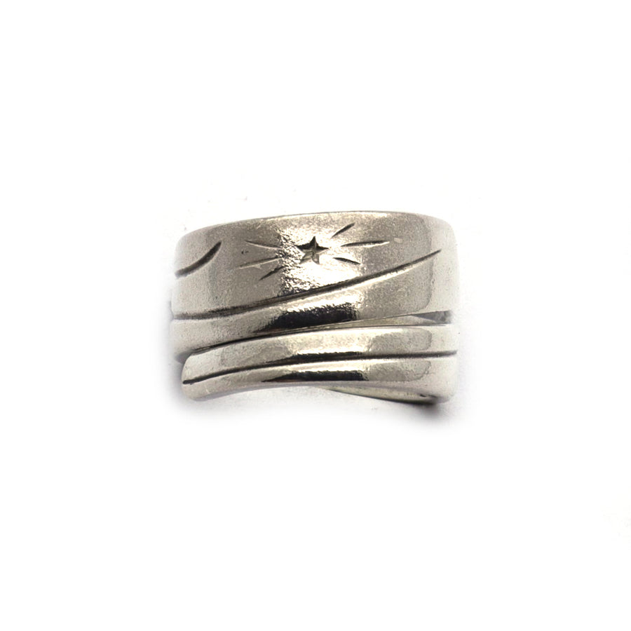Antique Star spoon Handle Ring