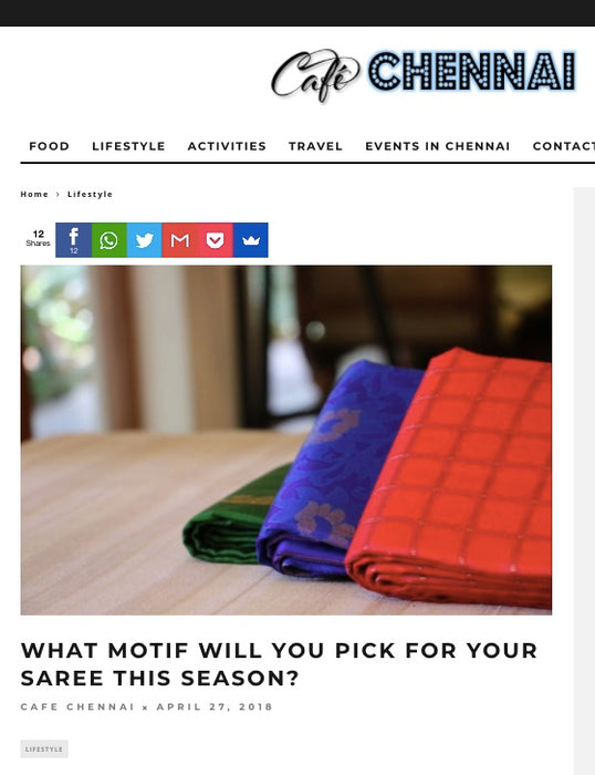 "Cafe Chennai Asks ""What Motif Will You Pick"""