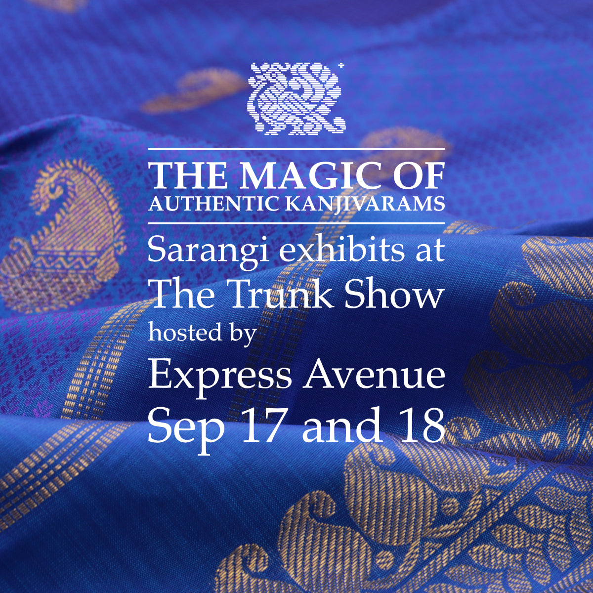 Sarangi to exhibit at the Trunk Show by Express Avenue