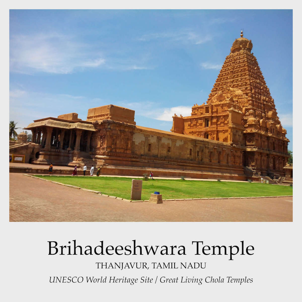 The Brihadisvara temple at Tanjavur marks the greatest achievement of the Chola architects. Known in the inscriptions as Dakshina Meru, the construction of this temple was inaugurated by the Chola King, Rajaraja I (985-1012 CE) possibly in the 19th regal year (1003-1004 CE) and consecrated by his own hands in the 25th regal year (1009-1010 CE).