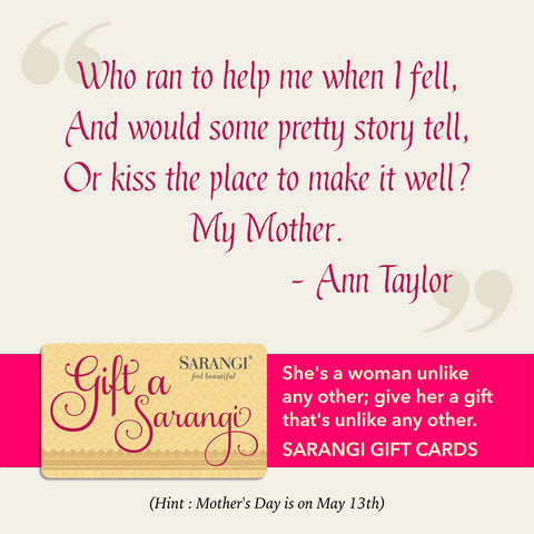 Sarangi's Mother's Day message