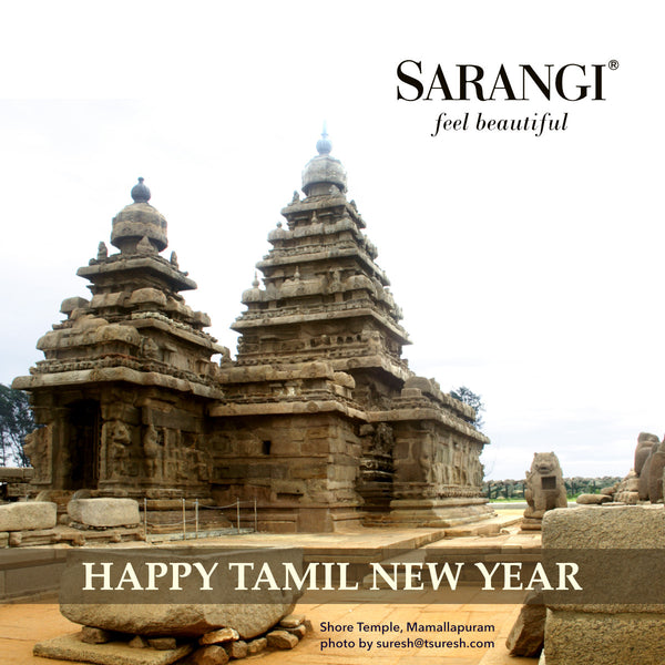 Happy Tamil New Year Greetings from Sarangi, the Kanjivaram sari store