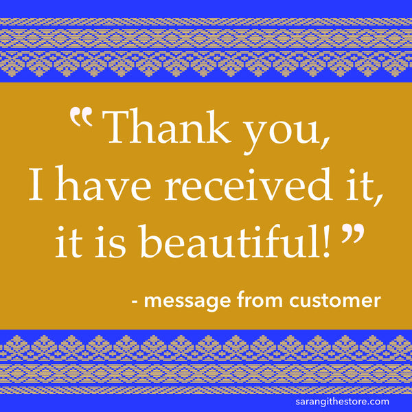 Sarangi customer testimonial received...