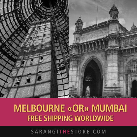 Free shipping worldwide ad campaign of Sarangi