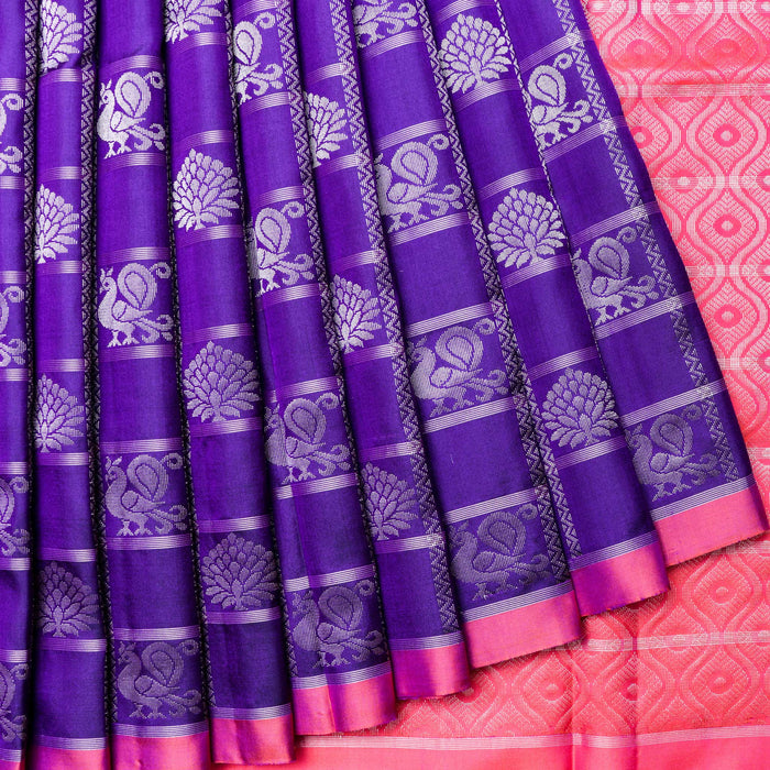 Handwoven Soft Silk Saree - 11 MPT998