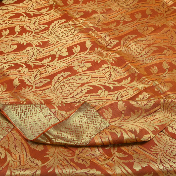(THE IMPERFECTS) Sarangi Handwoven Kanjivaram Silk Sari -  110105897