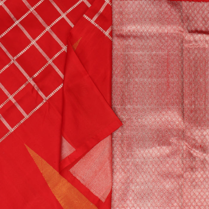 Sarangi Handwoven Silk Saree - 1262049RED