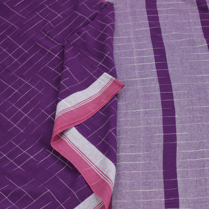 Sarangi Handwoven Soft Cotton Sari - 1272939MUL
