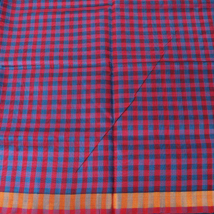 Sarangi Handwoven Silk-Cotton Sari - 1302427TTO
