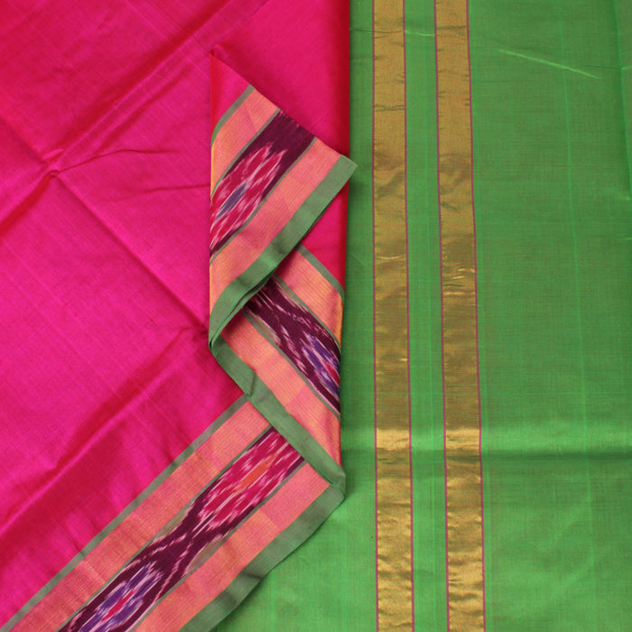 Sarangi Handwoven Silk-Cotton Sari - 1302489PIN