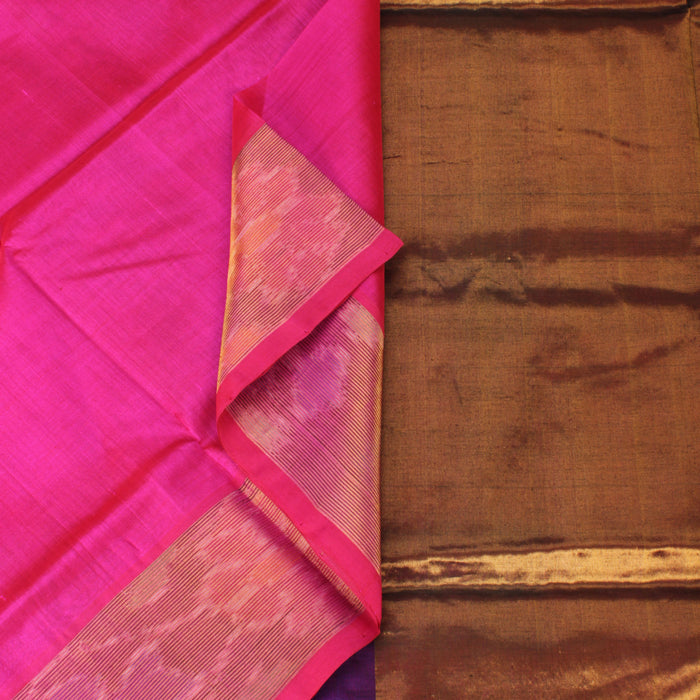 Sarangi Handwoven Silk-Cotton Sari - 1302492PIN